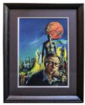 Mugnaini Portrait of Ray Bradbury From Bradburys Own Collection