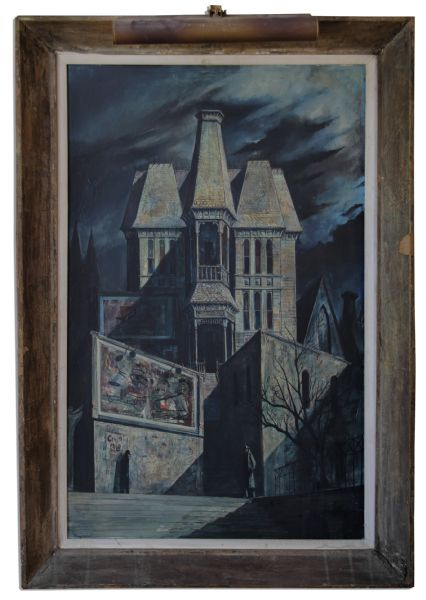 Ray Bradbury Personally Owned ''Modern Gothic'' Oil Painting by Joseph Mugnaini -- The Second Painting Purchased by Bradbury