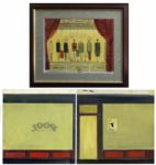 Trio of Paintings by Joseph Mugnaini -- Personally Owned by Ray Bradbury