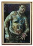 Ray Bradbury Personally Owned Oil Painting of The Illustrated Man
