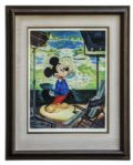 Ray Bradbury Personally Owned Mickey Mouse Lithograph by Disney Artist John Hench -- 18 x 24