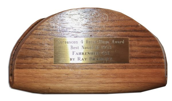 Ray Bradbury's Hugo Award for ''Fahrenheit 451'' -- The Most Prestigious Award in Science Fiction