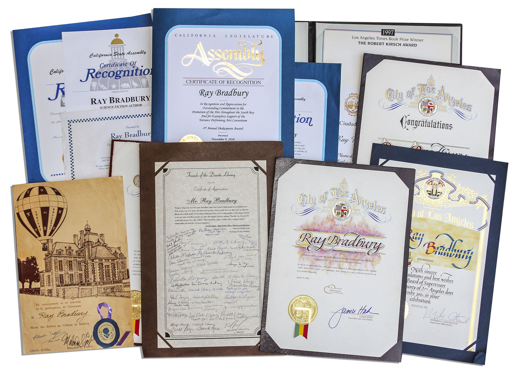 Lot detail ray bradbury lot of 69 government citations framed ray bradbury lot of 69 government citations framed award certificates includes his mensa 1betcityfo Images