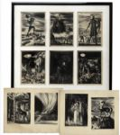 Ray Bradbury Personally Owned Lot of 10 Lithographs of Greek Mythological Figures by Joseph Mugnaini for Thomas Bulfinchs, The Age of Fable or Stories of Gods and Heroes