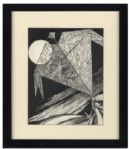 "Ray Bradbury Personally Owned Joseph Mugnaini Original Drawing Titled ""The Halloween Kite"""