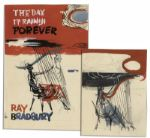 Ray Bradbury Personally Owned Preliminary Cover Art by Mugnaini for His Novel Day It Rained Forever -- Two Paintings