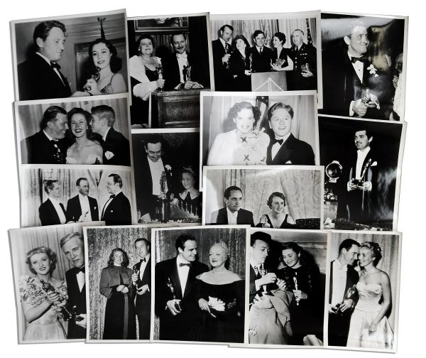 Ray Bradbury Personally Owned Photo Collection -- All Fifteen 8'' x 10'' Images Show Candid Shots of Oscar Winners