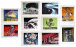 Ten Views of the Moon Full Set of 10 Lithographs -- A Collaboration Between Joseph Mugnaini & Ray Bradbury -- Personally Owned by Bradbury -- 20/150