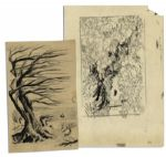 Ray Bradbury Personally Owned Joseph Mugnaini Sketches for The Wind & And The Rock Cried Out