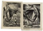 "Ray Bradbury Personally Owned Dragon Lithographs Signed by the Artist, Joseph Mugnaini -- From ""Age of Fables"""
