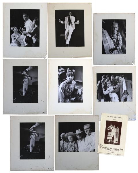 Ray Bradbury Personally Owned Lot of Photos From ''The Wonderful Ice Cream Suit'' -- Eight Large Still Photos From the Stage Production -- 10.25'' x 13.25''