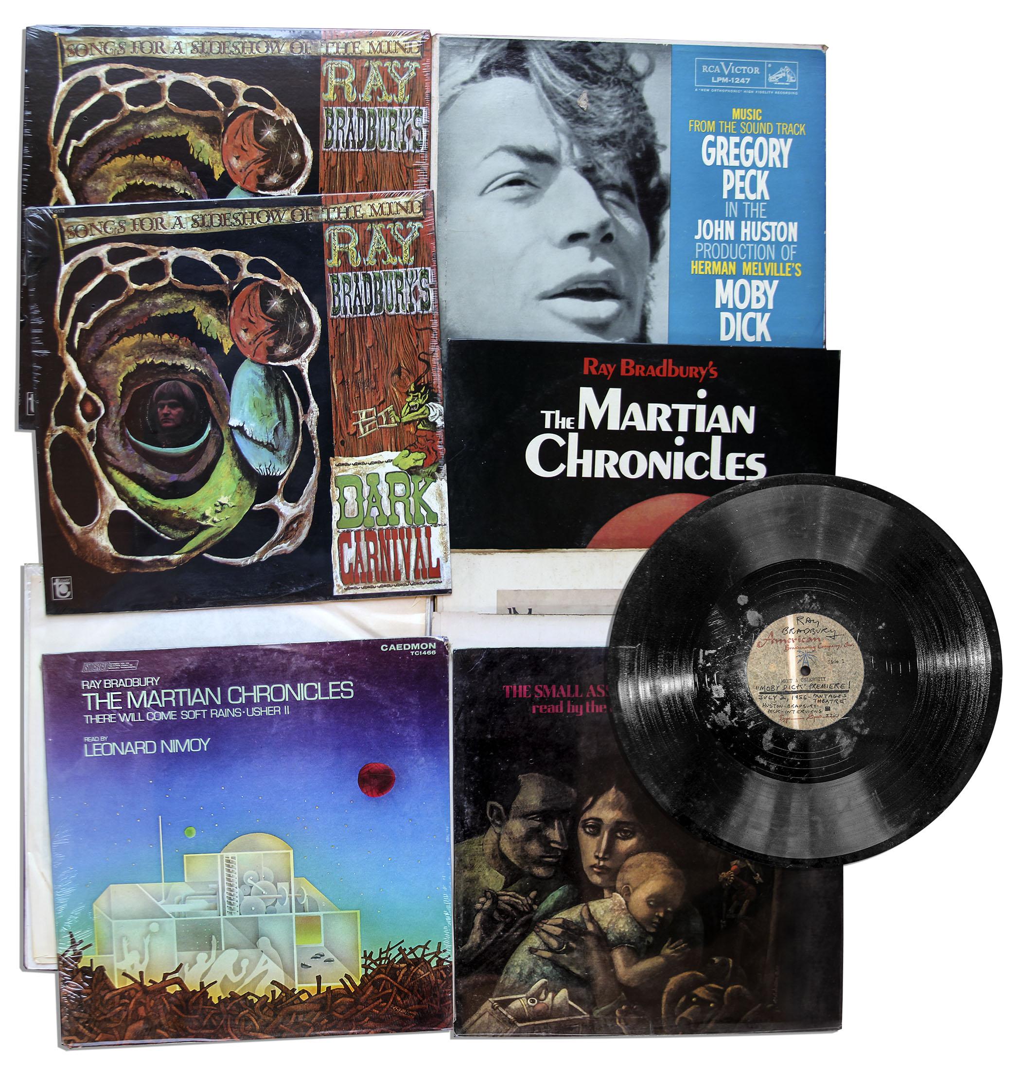 Lot Detail Ray Bradbury Lot Of 11 Vinyl Records With