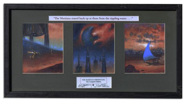 Ray Bradbury Personally Owned Art From ''The Martian Chronicles'' Signed by the Artist & by Bradbury -- Plus an Identical Unsigned Piece