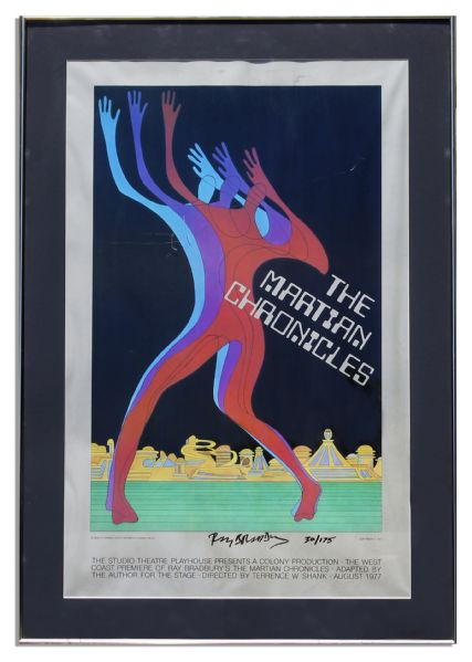 Ray Bradbury Personally Owned Large Framed Posters -- Regarding ''The Martian Chronicles''
