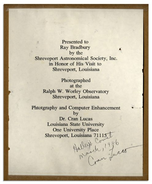 Ray Bradbury Owned Lot of 4 Artworks -- Includes Print of One of Bradbury's Own Works -- Largest Piece Measures 21.25'' x 18.25'' -- Near Fine -- With COA From Estate