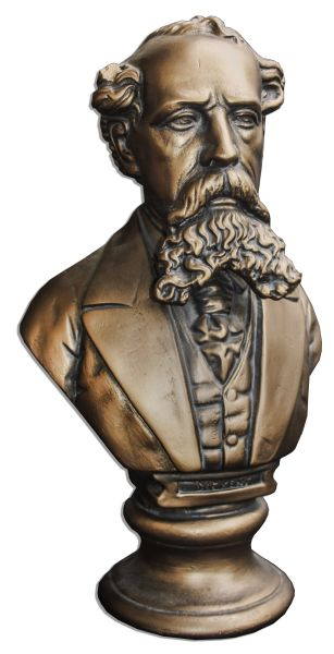 Ray Bradbury Personally Owned Charles Dickens Bust