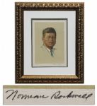 John F. Kennedys Portrait by Norman Rockwell -- Limited Edition of 200 Is Signed by Rockwell