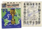 1966 FIFA World Cup Program Signed by Its Champions, The England Squad -- With England & West Germany Supporters Rosettes