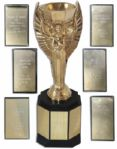 Jules Rimet 1970 FIFA World Cup Replica Trophy -- Used by Broadcasting Studios During World Cup Coverage