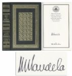 Nelson Mandela Signed Copy of His Autobiography Long Walk to Freedom -- Stunning Luxury Edition
