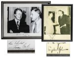 Pair of Presidential Signed Photos -- Jimmy Carter & Lyndon B. Johnson