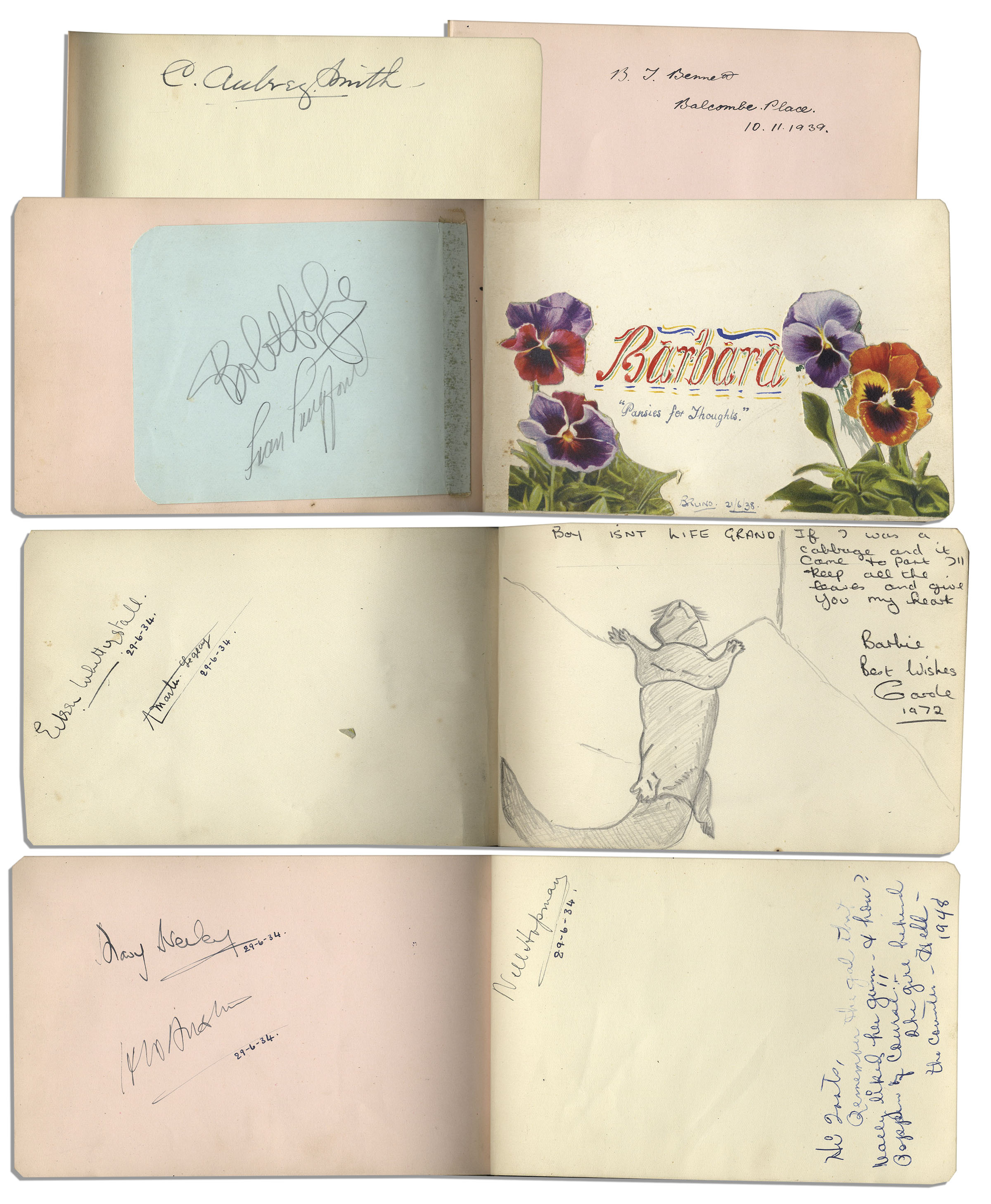 Lot Detail Collection of Nearly 100 Signatures by 1930 s Sports