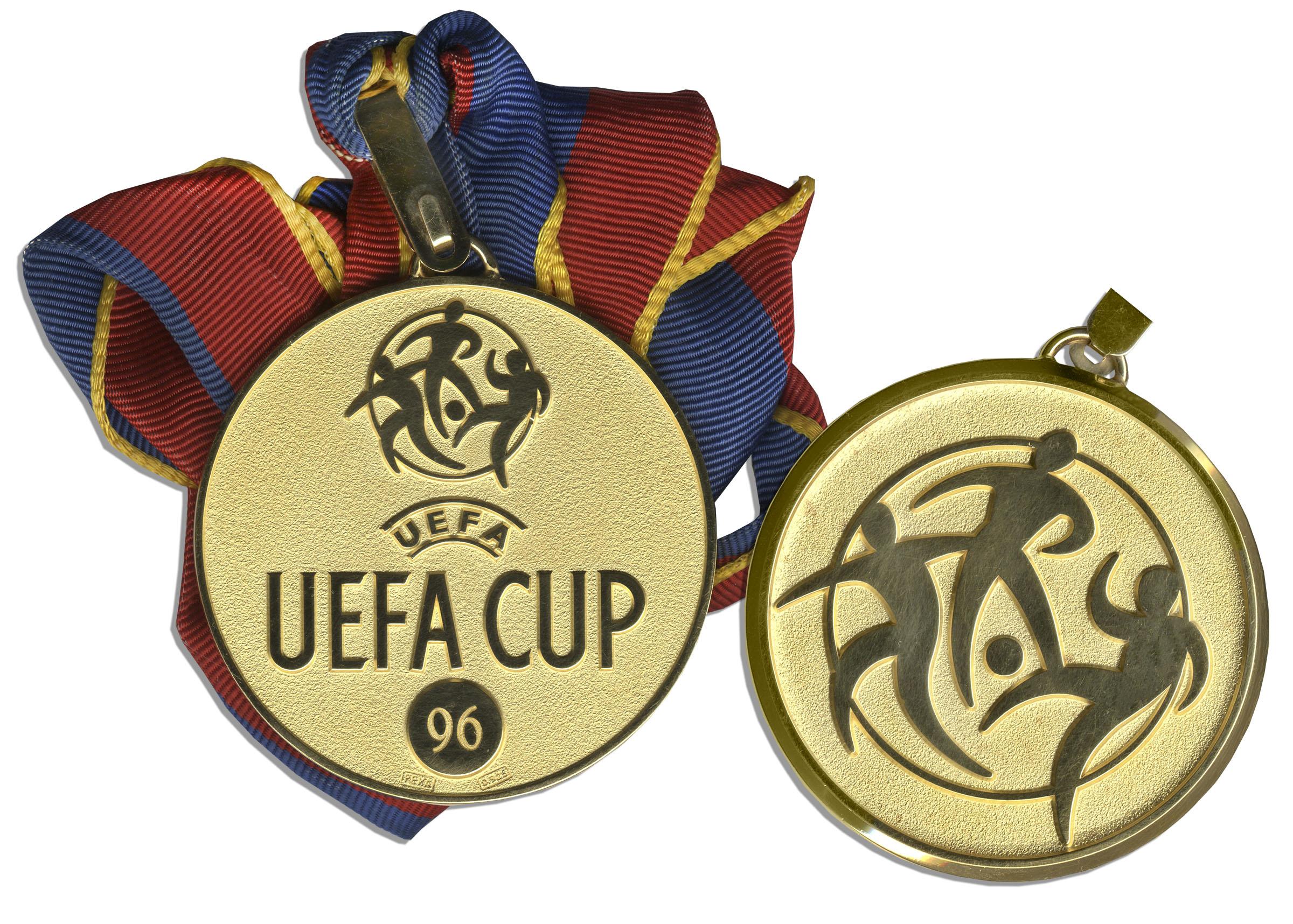 UEFA Detail: UEFA Cup Medal Won By French Soccer Legend