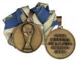 FIFA World Cup Medal From 1986 Obtained by French Soccer Legend Jean-Pierre Papin, One of the Top 100 FIFA Players of All-Time as Delegated by Pele