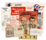 Lot of President Eisenhower Campaign Memorabilia From 1952-1954 -- Includes Centennial Celebration of Republication Party, From Abe to Ike!