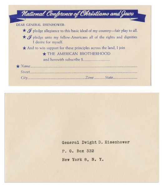 Lot of President Eisenhower Campaign Memorabilia From 1952-1954 -- Includes Centennial Celebration of Republication Party, ''From Abe to Ike!''