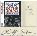 "Richard Nixon Signed First Edition of His Book ""In The Arena"""