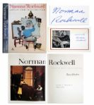 Norman Rockwells Signature Affixed Within Coffee Table Book Norman Rockwell: Artist and Illustrator -- Nice Large Format Collection of Rockwell Illustrations