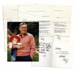 Hugh Hefner Signed Lot of Personal Letters & Photo -- ...Getting older can be a bitch, but its better than the alternative- H