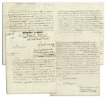French Admiral Latouche Treville Letter Signed -- ...The crew of the ship Tordeaux wrecked in 1773 on the island of Tizago, where they had found the most awful captivity...