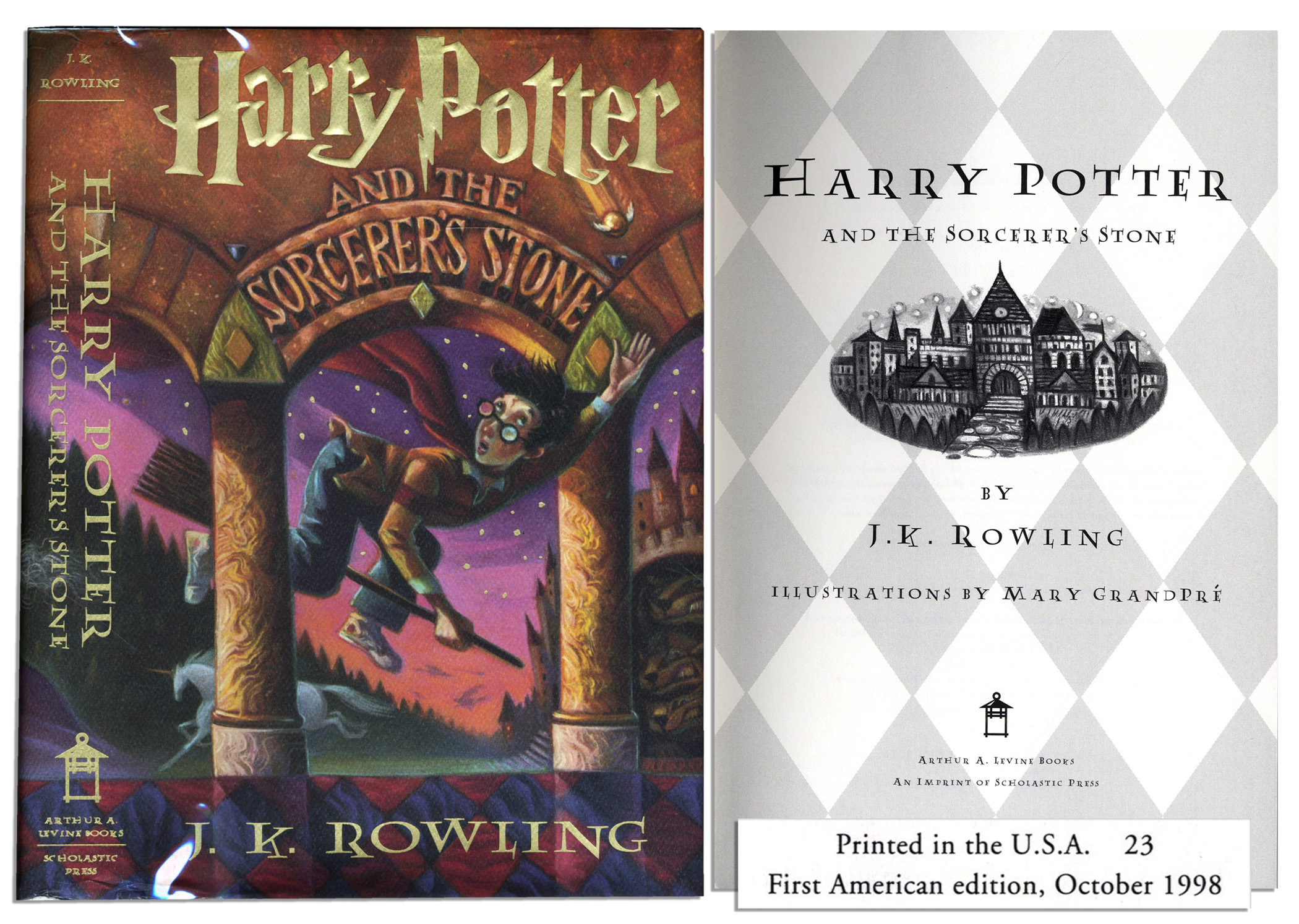Harry Potter Book First Edition : Lot detail harry potter and the sorcerer s stone
