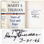 Harry S. Truman Signed Volume II of His Memoirs