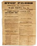 Irish Civil War Broadside Printed by Eamon de Valeras IRA -- 1922 -- ...they would be treated as criminals...