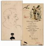 Opera Great Enrico Caruso Hand-Drawn Sketch