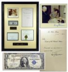 President Harry Truman $1 Bill Signed, in Homage to The Buck Stops Here! -- Scarce