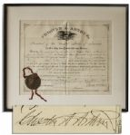 Chester A. Arthur Document Signed as President