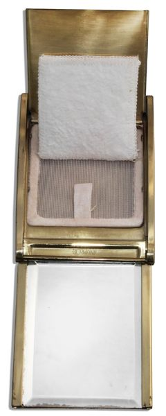 Marlene Dietrich Personally Owned German-Made Roll-Top Makeup Compact