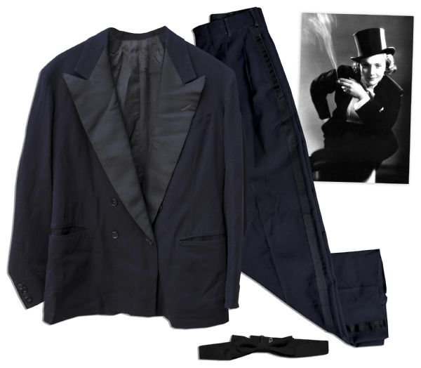 Marlene Dietrich Personally Owned Men's Tuxedo -- Quintessential Dietrich