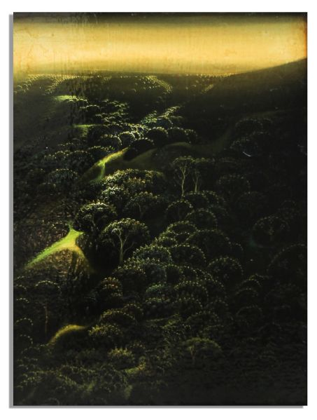 Eyvind Earle Original Landscape Oil Painting -- From the Estate of Ray Bradbury