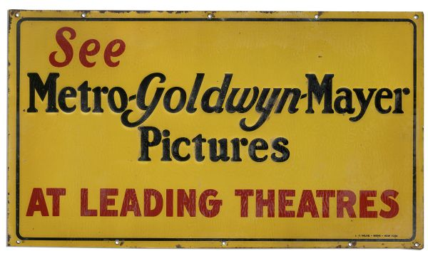 Vintage Hollywood MGM Sign