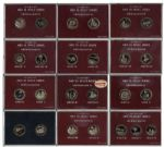 Ray Bradbury Personally Owned Lot of Space Medals From the Danbury Mint -- Lot of 11 Men in Space Bronze Medal Sets