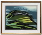 Ray Bradbury Personally Owned Art -- Limited Edition Landscape Silkscreen by Eyvind Earle Titled Beyond of the Valley