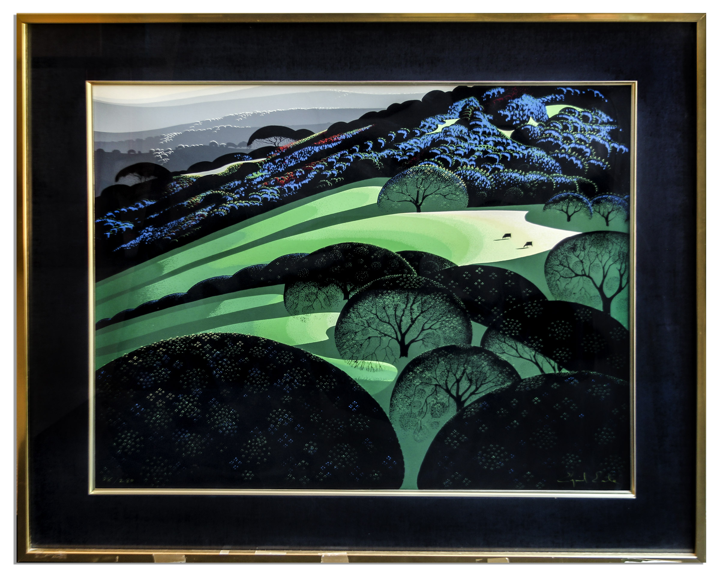 Eyvind Earle Art Ray Bradbury Personally Owned Art -- Limited Edition California Landscape Silkscreen by Eyvind Earle Titled ''Spring''