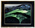Ray Bradbury Personally Owned Art -- Limited Edition California Landscape Silkscreen by Eyvind Earle Titled Spring
