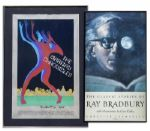 Ray Bradbury Personally Owned Large Framed Posters -- Regarding The Martian Chronicles