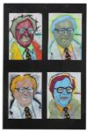 Ray Bradbury Personally Owned Warhol-Style Fan Art